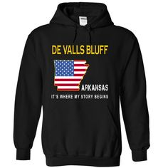 (Tshirt Top Sell) DE VALLS BLUFF Its Where My Story Begins Coupon 15% Hoodies, Funny Tee Shirts