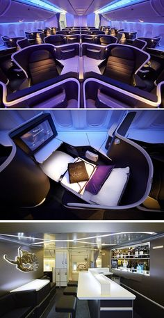 See inside the new business class cabin that Virgin Australia have revealed - Best Luxury Cars Jets Privés De Luxe, Luxury Jets, Luxury Private Jets, Private Plane, Airplane Interior, Jet Privé, Private Jet Interior, First Class Flights, Aircraft Interiors