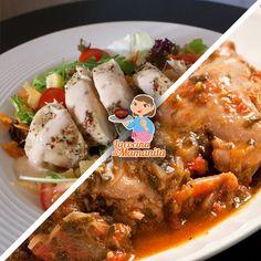 ¿Ensalada de pollo o cerdo entomatado? #Comida mexicana