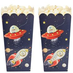 Space Adventure Party Popcorn Boxes - Space Adventure - Party Themes A-Z - Kids' Party