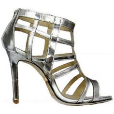 Jimmy Choo Sandals Frost Mirrored Leather -$279