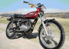 My second bike Old School Motorcycles, Small Motorcycles, Vintage Motorcycles, Yamaha Motorcycles, Sport Motorcycles, Enduro Motorcycle, Bike Trails, Dirt Biking, Japanese Motorcycle