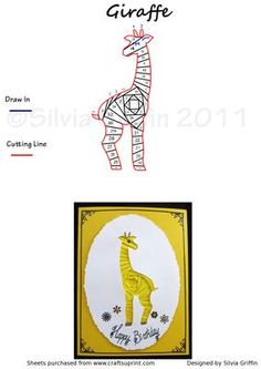 Giraffe on Craftsuprint designed by Silvia Griffin - Another versatile pattern for all your kids and grand kids. Easy cutting lines so quick to make. Thank you for considering my creations. - Now available for download!