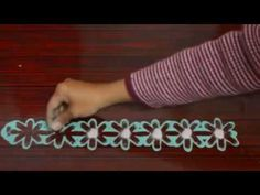 Border rangoli // finger magic// instant rangoli design by nidhi jain - YouTube