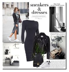 """""""Sporty Chic: Sneakers and Dresses"""" by lilly-2711 ❤ liked on Polyvore featuring Sandro and Michael Kors"""