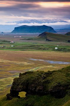 De Dyrholaey cliffs offers an excellent view of nearby Icelandic natural wonders near Vik in Iceland