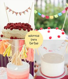 Click AQUÍ para ideas para originales adornos para tus tartas! En www.fiestafacil.com / Click HERE for original cake decoration ideas! In www.fiestafacil.com