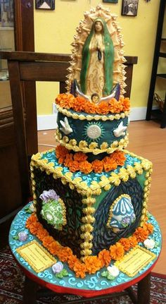 Fabulous Guadalupe cake by a San Diego designer..don't you just love it:-)