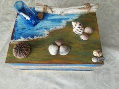 Ξύλινο κουτί με θαλασσινό θεμα