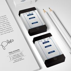 Black #iPhone6 #BusinessCards from @inkgility... #MakeYourMark