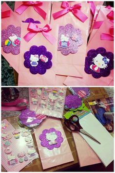 Home made goody bags i made, everything i bought was $1 or less from the dollar section at target and arne's warehouse