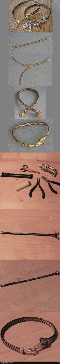 DIY Zipper Bracelet DIY Projects | UsefulDIY.com Follow Us on Facebook --> https://www.facebook.com/UsefulDiy: