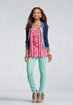 I cannot wait for my clothes to get her!  Ooh La La - 02 - CAbi Spring 2013 Collection   On-line catalog has a new 360 feature. Love it.