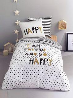 Parure housse de couette + taie d'oreiller Happy night*  - vertbaudet enfant