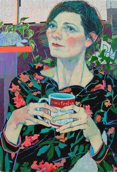 by Hope Gangloff - Ballpoint Pen Art - Figurative Painting - Kristen Schiele, 2015 Figure Painting, Painting & Drawing, Hope Gangloff, Ballpoint Pen Art, In Loco, L'art Du Portrait, Portrait Paintings, Colossal Art, Arte Pop