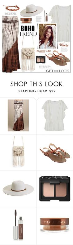 """Boho love"" by mada-malureanu ❤ liked on Polyvore featuring MANGO, Melissa Odabash, NARS Cosmetics, Anastasia Beverly Hills, Vita Liberata, Soul Journey Jewelry, boho and seasideboutique"