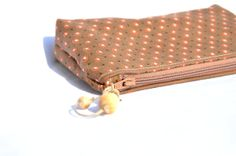 zipper pouch organizer in heavy cotton with by manufattofattoamano, €12.00