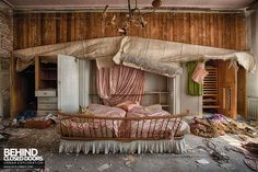 Dr Annas House and Surgery - Once a grand bedroom now falling into decay
