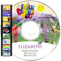 A collection of 8 uplifting songs of praise and John 3:16 personalized with your child's name 41 times!