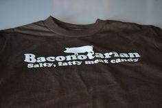 YOUTH Baconotarian funny bacon lover tshirt kids by geekthings, $14.99