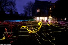 'Circuit: A Light Labyrinth' has opened at the Holburne Museum, Bath, Somerset. The delicate strands of illuminated wire create an eerie effect