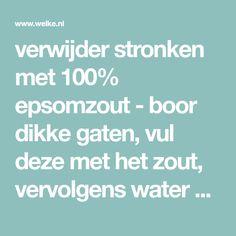 verwijder stronken met 100% epsomzout - boor dikke gaten, vul deze met het zout, vervolgens water erover (duurt soms een maand). Foto geplaatst door dagdromen mag op Welke.nl