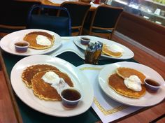 My size serving of pancakes at the Lemon Grove Deli