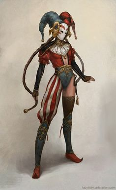 Jester, possible character inspiration Dnd Characters, Fantasy Characters, Female Characters, Character Concept, Character Art, Concept Art, Character Sketches, Fantasy Rpg, Dark Fantasy