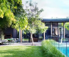 A Melbourne family have transformed the backyard of their home before saving up the funds to renovate their home. See how making a garden top priority in the reinvention of their home has paid off. Swimming Pools Backyard, Backyard Landscaping, Backyard Ideas, Outdoor Pool, Outdoor Gardens, Outdoor Ideas, Outdoor Decor, Patio Design, Garden Design