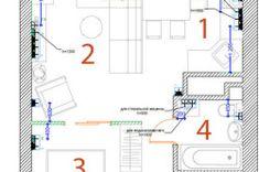 Схема правильного размещение розеток и выключателей в доме Diagram, Floor Plans, Floor Plan Drawing, House Floor Plans