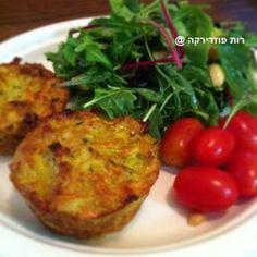 תפוז בלוגים - מאפינס ירקות\מיני פשטידות - ללא שומן ללא גלוטן @ - היצירה של הלב @