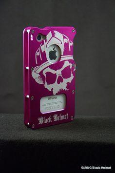 iphone 4s firefighter cases | ... Logo Aluminum iPhone 4 Case (Purple)- Black Helmet Firefighter Apparel