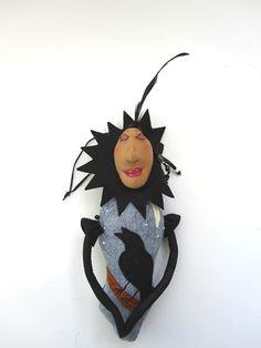 Raven Goddess OOAK Crow Blackbird Art Doll from by MountainDolls by Janice Parrott