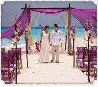 beautiful beach wedding decor