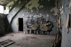 #Mural of street artists ICY AND SOT in an abdoned camp near #Berlin.