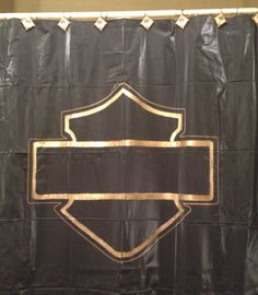 HARLEY DAVIDSON MOTORCYCLE SHEILD BATH SHOWER CURTAIN
