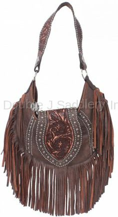 a3c888273d0a Brown Bomber Fringe Hobo Purse by Double J Saddlery. Western Purses