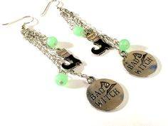 Bad Witch Charm Earrings with Witches boot by DCArtandPhotography