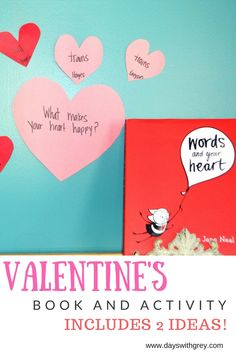 Preschool Valentine Book and Activity Kindness Activities, Valentines Day Activities, Alphabet Activities, Activities For Kids, Valentines Day Book, Story Retell, Reading Words, Happy Words, Retelling