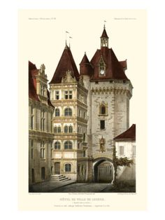 French Chateaux in Brick III Giclee Print by Victor Petit at Art.com