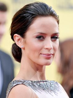 Copy Emily Blunt's glam up-do with these tips #beauty #hair #howto #celebrity