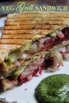 Simple Veg Sandwich Recipes For Breakfast Veg Sandwich Recipe Simple Easy Vegetable Sandwich Recipe On Tawa, Sandwich Recipes 35 Easy Sandwich Recipes For Breakfast Plain, Veg Grilled Sandwich Recipe Bombay Veg Grilled Sandwich, Simple Veg Sandwich Recipes, Grilled Sandwich Recipe, Grill Sandwich, Veggie Sandwich, Sandwich Ideas, Green Chutney Recipe, Chutney Recipes, Potluck Recipes, Cooking Recipes