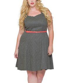 Look what I found on #zulily! White Sweet Talk In Dot Dress - Plus #zulilyfinds