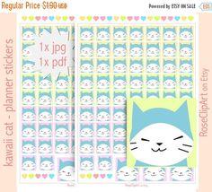 Kawaii Love Cat - planner stickers Kawaii Stickers, Cat Stickers, Manga Cat, Kawaii Planner, Kawaii Cat, Planner Inserts, Planner Stickers, Diagram, Printables