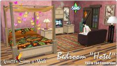 """Annett`s Sims 4 Welt: Bedroom """"Hotel"""" • Sims 4 Downloads"""