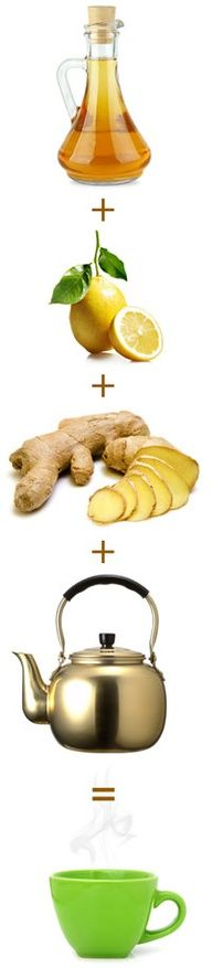 Forget juice cleanses and start your day with this detox drink of hot water, lemon, and apple cider vinegar.