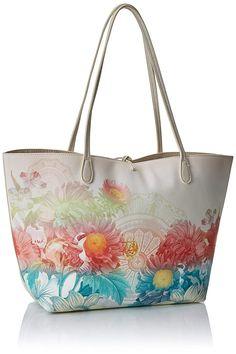 7f73e1989 Desigual Bols_valkyria New Capri, Shoppers y bolsos de hombro para Mujer,  Blanco (Crudo), 28x13x30 cm (B x H x T): Amazon.es: Zapatos y complementos