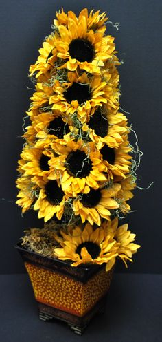 A.C. Moore Fall 2012 Floral: Sunflower Topiary