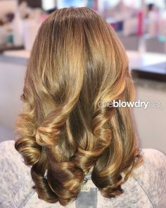 oneblowdrybar®, brand of blow dry bar and blowout hair salons that specialize. Long Hair Wedding Styles, Wedding Hairstyles For Long Hair, Curled Hairstyles, Long Hair Styles, Long Gray Hair, Blowout Hair, Face Shape Hairstyles, Hair Salons, Trending Hairstyles