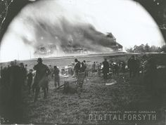 Fire at the Zinzendorf Hotel, 1892. Courtesy of the Forsyth County Public Library Photograph Collection